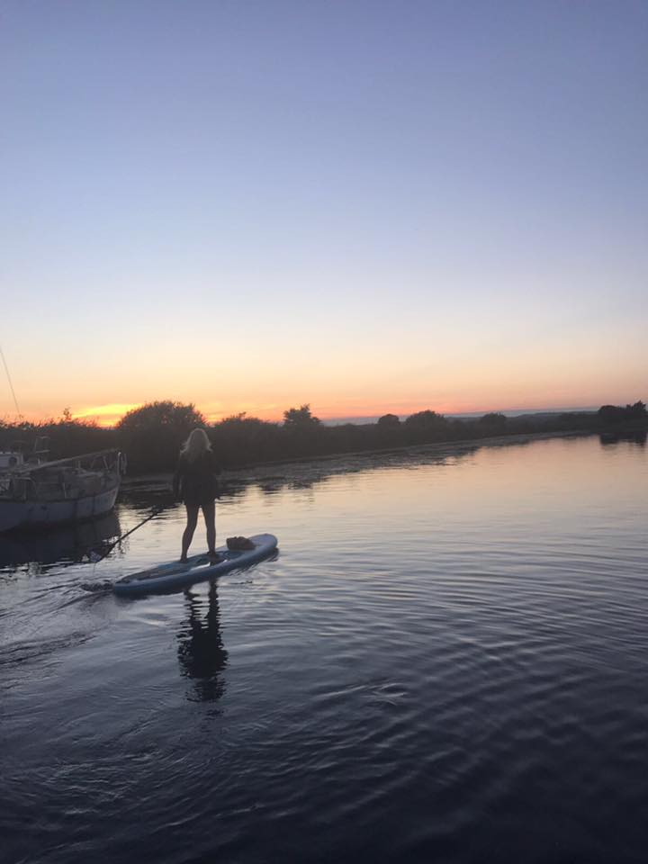 paddleboarding Topsham