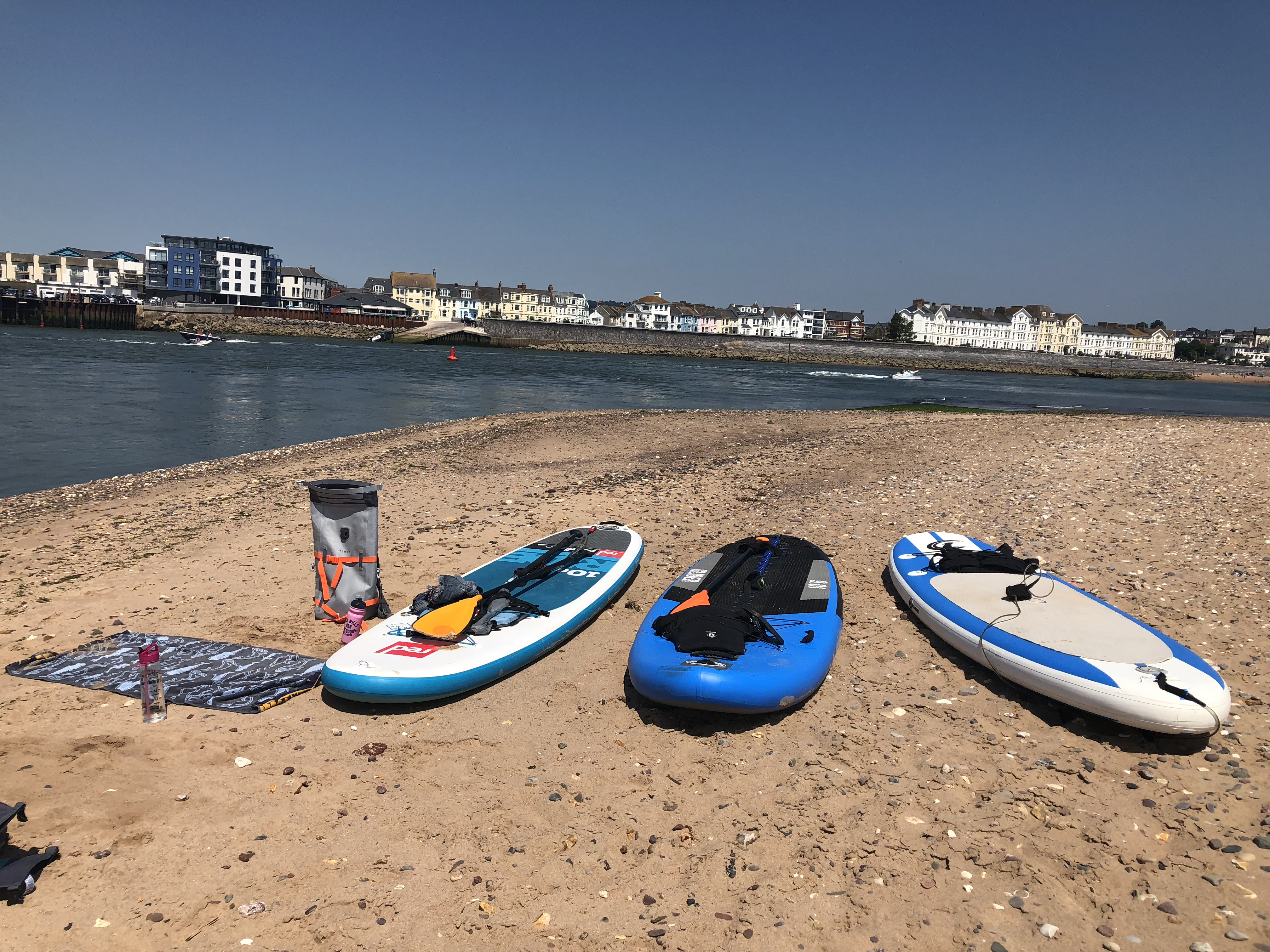 Paddleboards in Dawlish